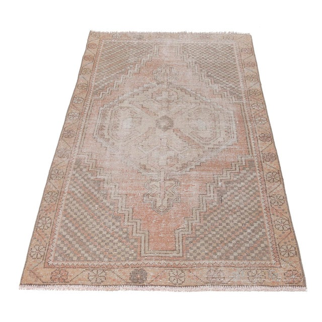 Vintage hand-knotted area rug from Konya region of Turkey. Approximately 45-55 years old. In very good condition.