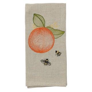 Cottage Orange Tea Towel