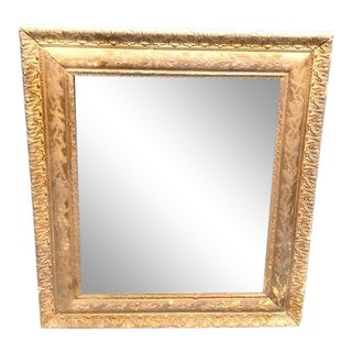 1930s Gold Carved Wood Wall Frame For Sale