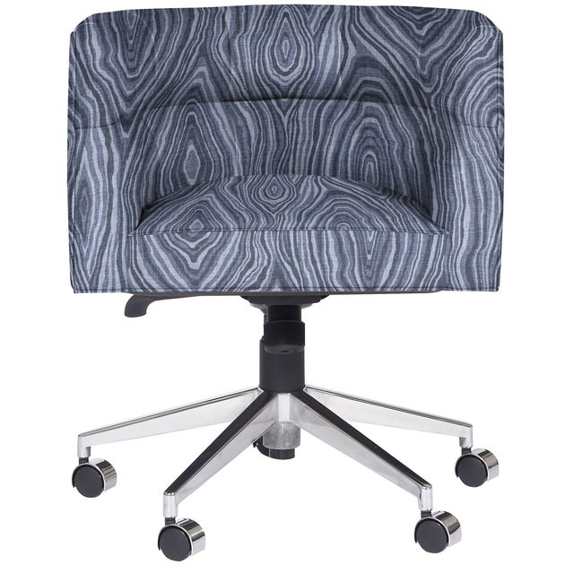 Transitional Perry Desk Chair, Olay Ink For Sale - Image 3 of 4