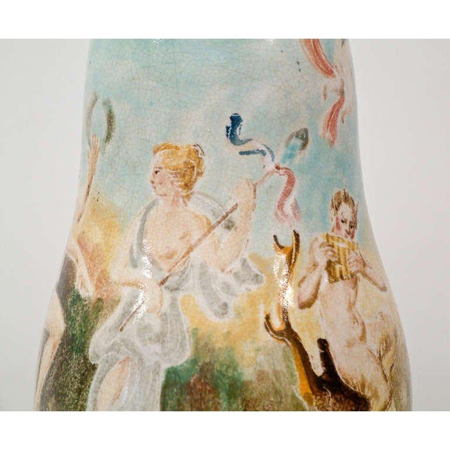 Ceramic Circa 1940 Professor Eugenio Pattarino Ceramic Lamp Italy For Sale - Image 7 of 11
