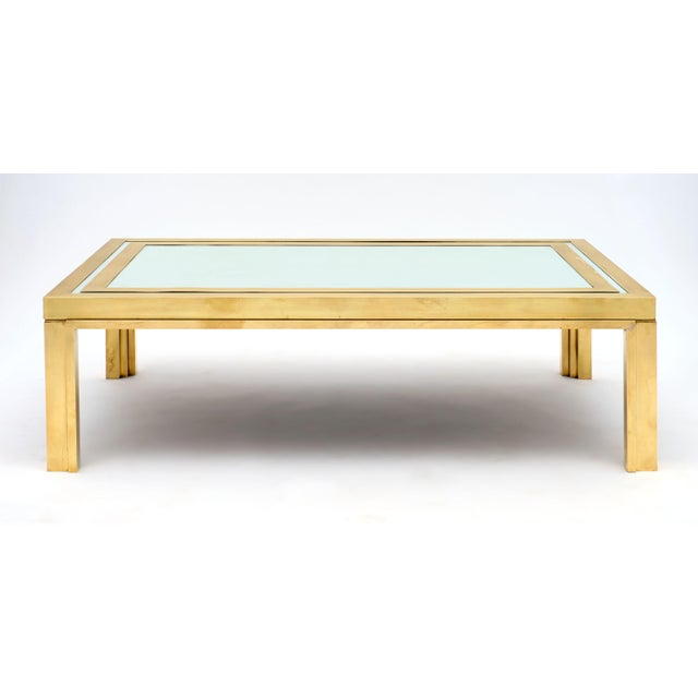 Gold Romeo Rega Brass and Mirror Coffee Table For Sale - Image 8 of 10