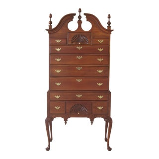 1990s Queen Anne Harden Yale Garvan Cherry Highboy For Sale