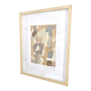 Lebuh Pasar Flower Market Framed Original Abstract Painting by Neicy Frey For Sale