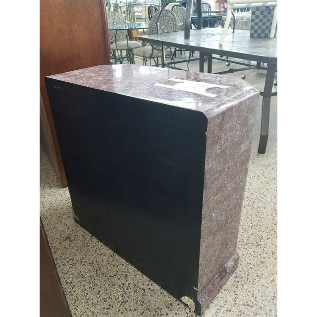 Stone Art Deco Stylized Maitland Smith Lilac Tessellated Stone Chest of Drawers For Sale - Image 7 of 11