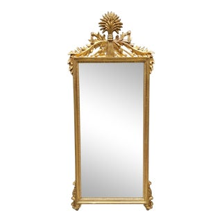 Italian Neoclassical Giltwood Mirror For Sale