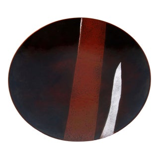 Mid Century Modern Bovano Enamel on Copper Plate / Platter For Sale