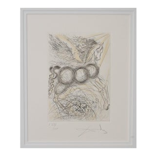 "Salvador Dali ""Pegasus"" Reverse Plate Signed Etching C.1970s For Sale"