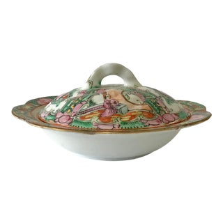 Rose Medallion Covered Dish For Sale