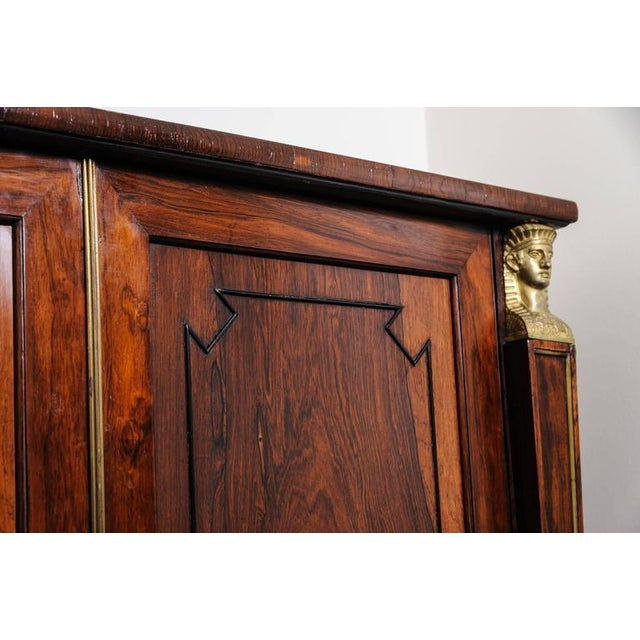 Early 19th Century 19th Century English Regency, Two-Door Cabinet, Rosewood with Doré Bronze Mount For Sale - Image 5 of 9