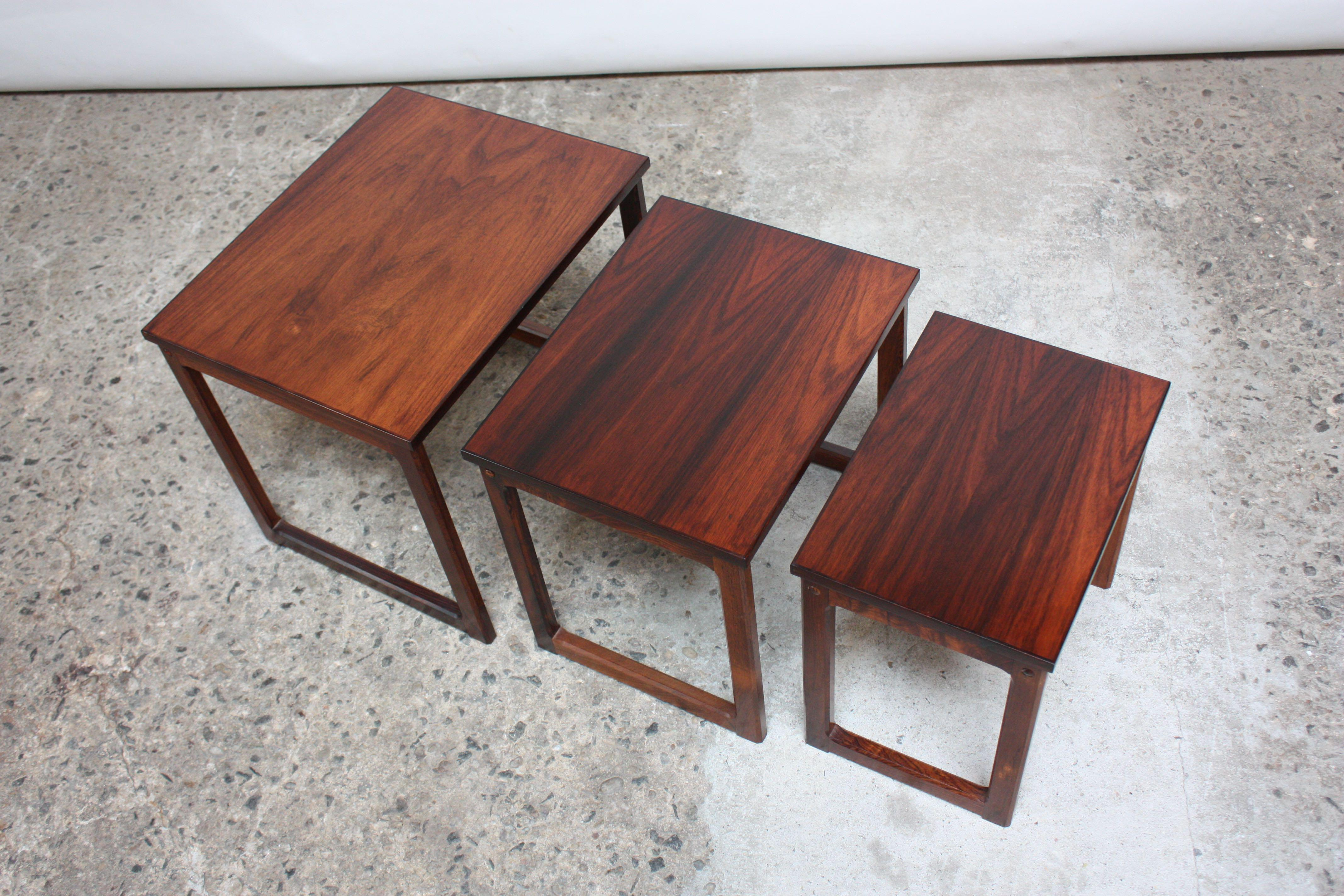 Trio Of Danish Rosewood Nesting Tables   Image 5 Of 9