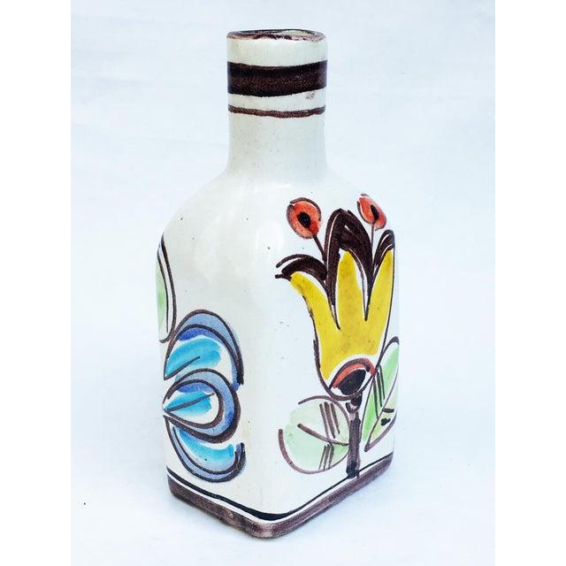 Boho Chic 1960s Italian Pottery Vase Bottle Signed DeSimone For Sale - Image 3 of 7
