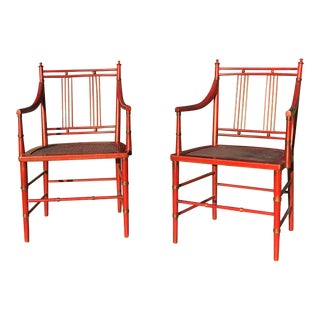 Regency Style Japanese Armchairs - a Pair For Sale