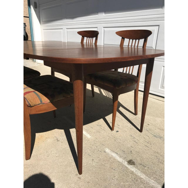 Lenoir Broyhill Mid-Century Modern Dining Set - Table & 4 Chairs - Image 9 of 10