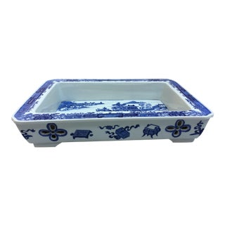 Chinese Blue & White Bulb Dish For Sale