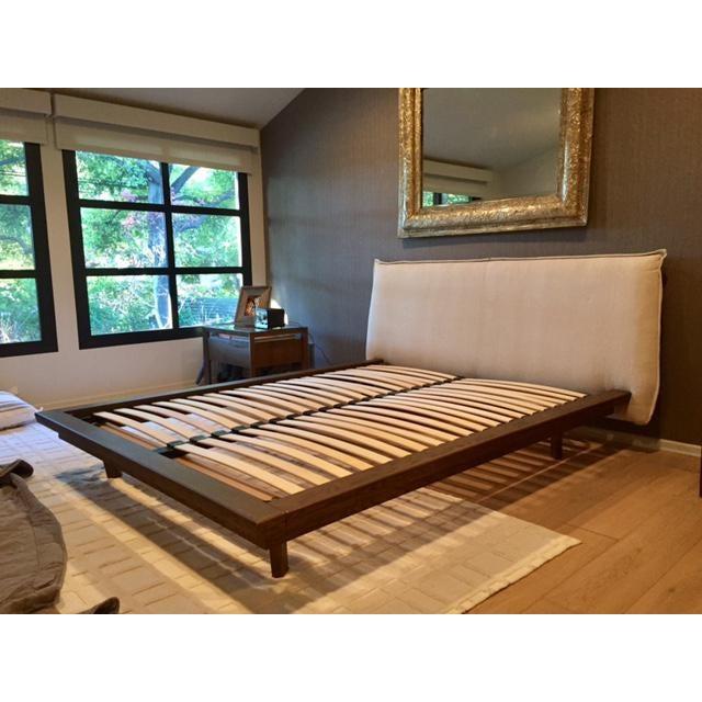 Modern Designer Upholstered Queen Bedframe - Image 2 of 5