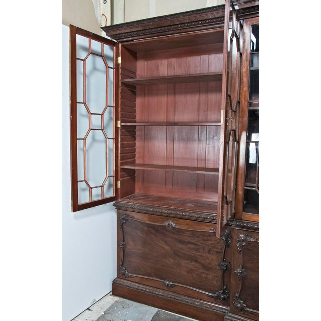 Huge George III Style Mahogany Breakfront Bookcase - Image 3 of 7