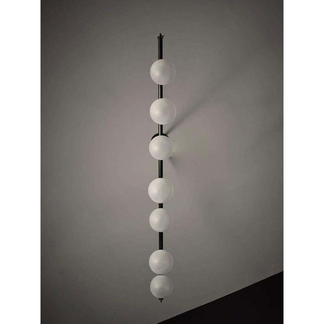 Trillo Ceiling Fixture in Oil-Rubbed Bronze & Blown Glass by Blueprint Lighting For Sale In New York - Image 6 of 7