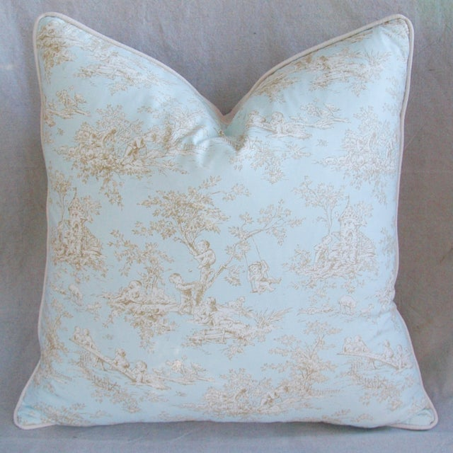 Designer French Blue & White Toile Pillows - Pair - Image 8 of 8