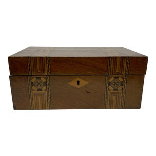 19th Century Banded Mahogany Box For Sale