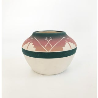 Vintage Sioux Carved Pottery Vase Preview