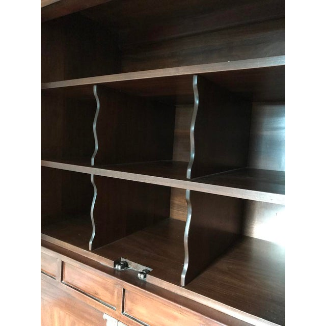 Metal Henredon Tansu Collection Armoire Wardrobe For Sale - Image 7 of 13