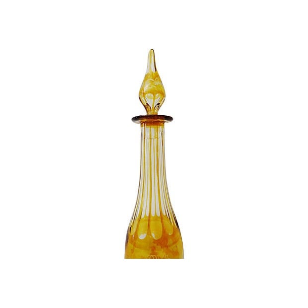 Bohemian Overlay Crystal Decanter For Sale - Image 4 of 7