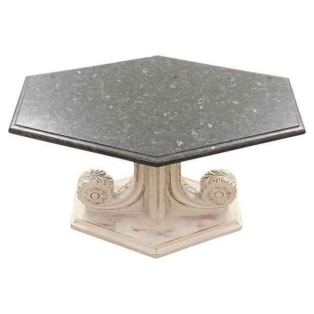 French Empire-Style Marble Side Tables - Pair - Image 3 of 7