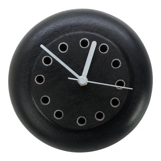 Modern Abstract Artisan Wood Wall Clock For Sale