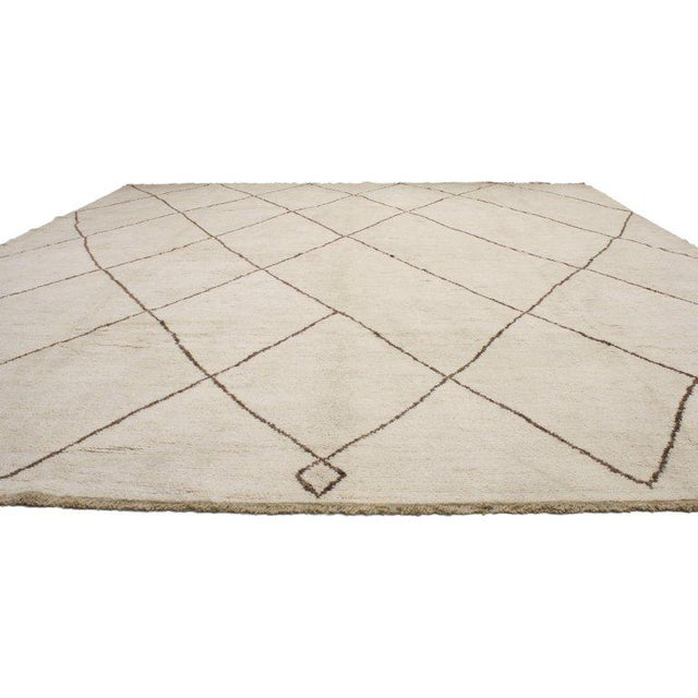 Contemporary Contemporary Moroccan Style Rug with Modern Design For Sale - Image 3 of 5