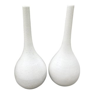 Mid Century Modern Glazed Vases- A Pair For Sale
