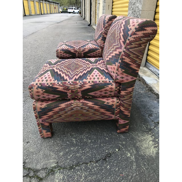 Mid-Century Modern Mid Century Century Furniture Parsons Style Slipper Chairs- A Pair For Sale - Image 3 of 13
