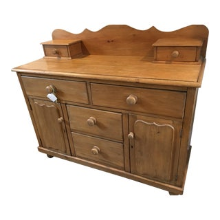 1870s Country Pine Server For Sale