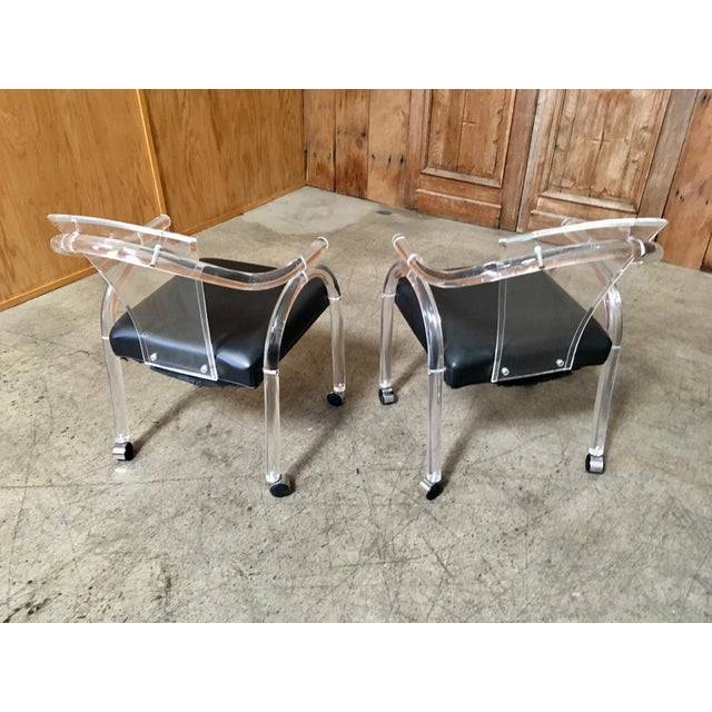 Vintage Mid Century Sculptural Lucite Dining Chairs- Set of 8 For Sale - Image 10 of 13