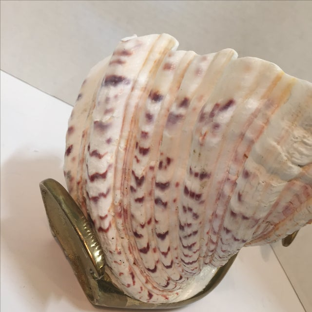 Vintage 1970 Brass Swan And Sea Shell - Image 7 of 9