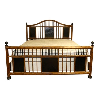 Baker Milling Road Island Style Chippendale Malacca King Size Bedframe For Sale