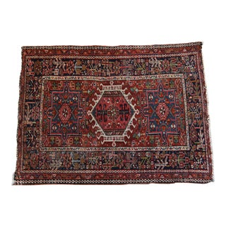 "Antique Karaja Handknotted Rug-3'6"" X 4'5"" For Sale"