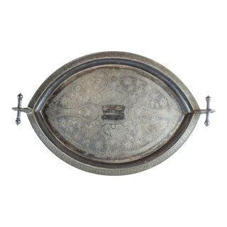 Antique Aesthetic Movement Silverplate Tray For Sale