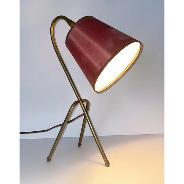 Rare Brass Tripod brass lamp that will be a great addition to your desk or shelf.