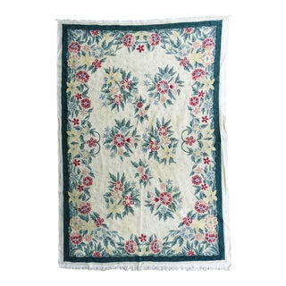 Kashmir Chain Stitch Tapestry or Rug For Sale