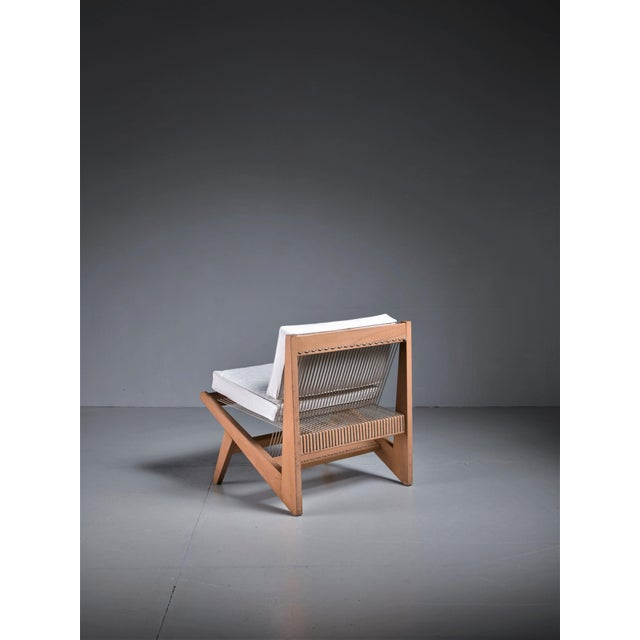 Rope Sling Lounge Chair in the Manner of Albert Frey, USA, 1950s For Sale - Image 4 of 8