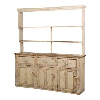 Antique English Welsh Dresser, Original Painted Finish circa 1850 For Sale