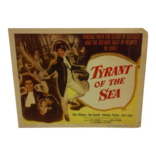 "Vintage ""Tyrant of the Sea"" 1950 Movie Poster For Sale"