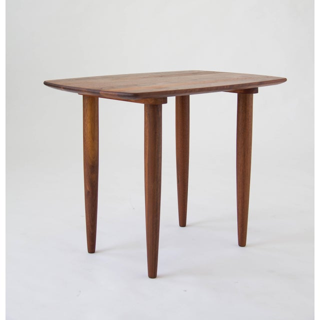 Prelude Walnut Side Table For Sale - Image 4 of 7