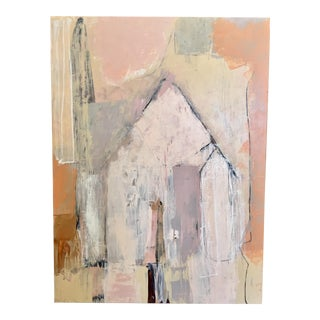 Contemporary Abstract by San Francisco Artist Rick Griggs Titled Casa Pink For Sale