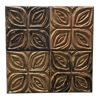Evelyn Ackerman for Panelcarve Carved Redwood Wall Panel For Sale