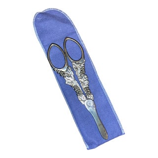 1980s Sterling Silver Grape Shears For Sale