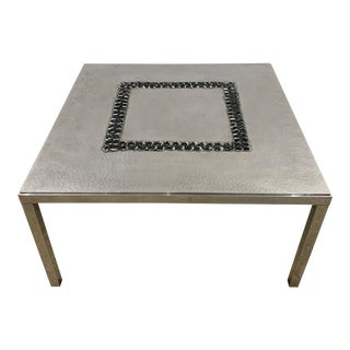 1970s Willy Luckyx Aluclair Belgian Coffee Table For Sale