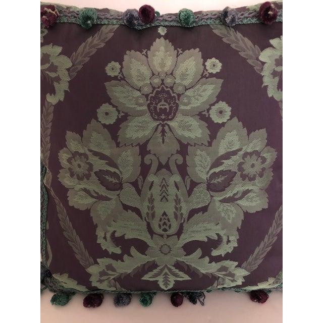 Boho Chic Vintage Damask Pillow For Sale - Image 3 of 5