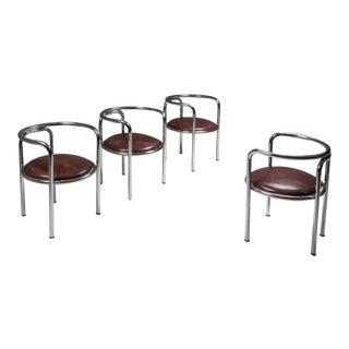 1964 Gae Aulenti 'Locus Solus' Armchair for Zanotta, Set of 4 For Sale